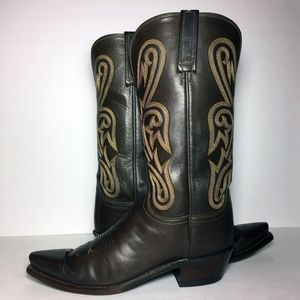 Lucchese 1883 Brown Leather Western Boots Women's